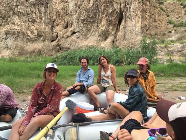 richard and lydia on raft